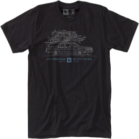 Hippy Tree Wagon T-shirt Heren, black
